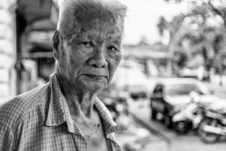 Пожилой человек. Фото Лауры Сафиотти