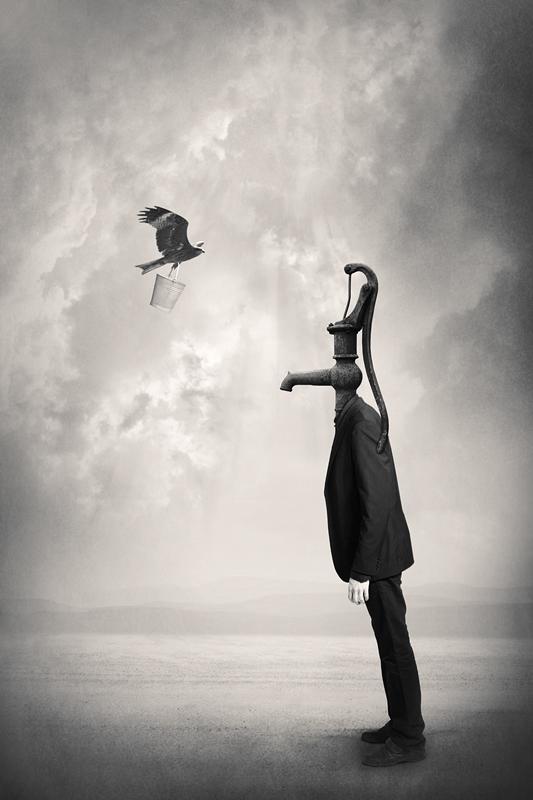 Абстрактная фотография. Человек-кран. Фото: Tommi Ingberg