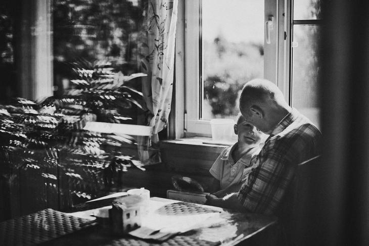 Отец и сын. Семейная фотография Наталии Федоровой