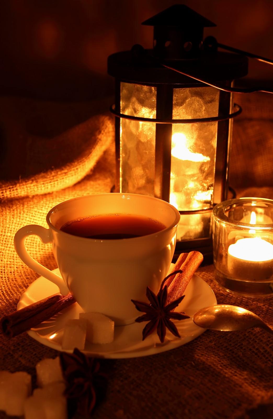 Чай камин вечер