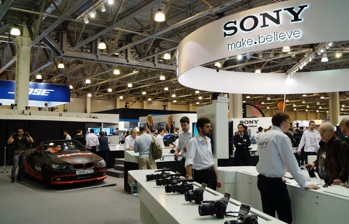 Стенд компании Sony на Фотофоруме-2013