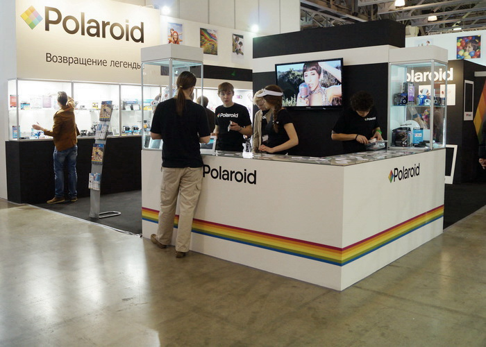 Стенд компании Polaroid на Фотофоруме-2013