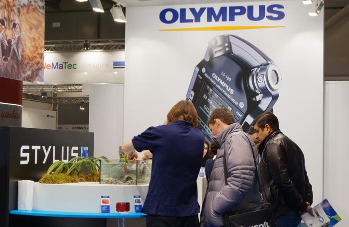 Стенд компании Olympus на Фотофоруме-2013
