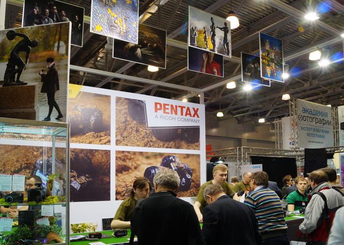 Стенд компании Pentax на Фотофоруме-2013