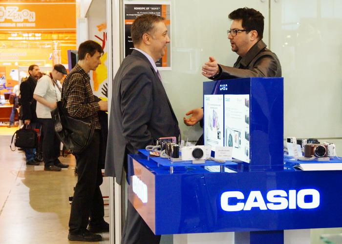 Стенд компании Casio на Фотофоруме-2013