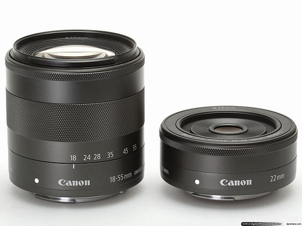 EF-M 22мм F2 STM и EF-M 18-55мм F3.5-5.6 STM IS