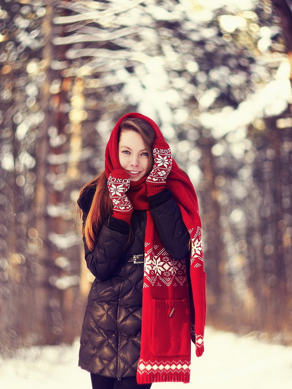 Зимний портрет, зимняя фотосессия