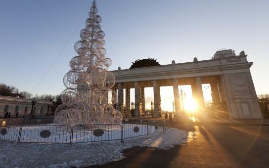 новогодние праздники в парке горького
