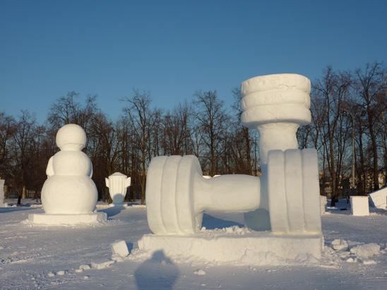 Фестиваль снега и льда в Лужниках