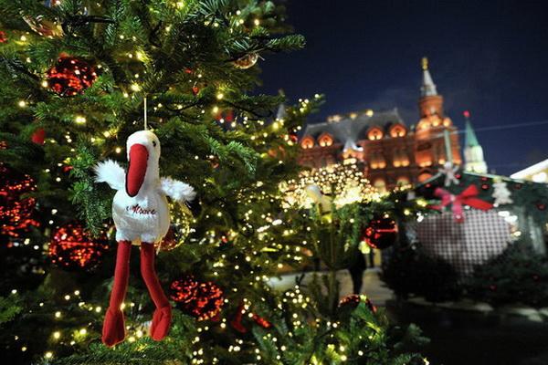 Открытие Страсбургской рождественской ярмарки на Манежной площади в Москве в 2012 году