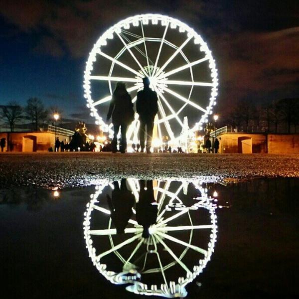 Сад Тюильри, Париж, мобильная фотография Натали Жеффруа