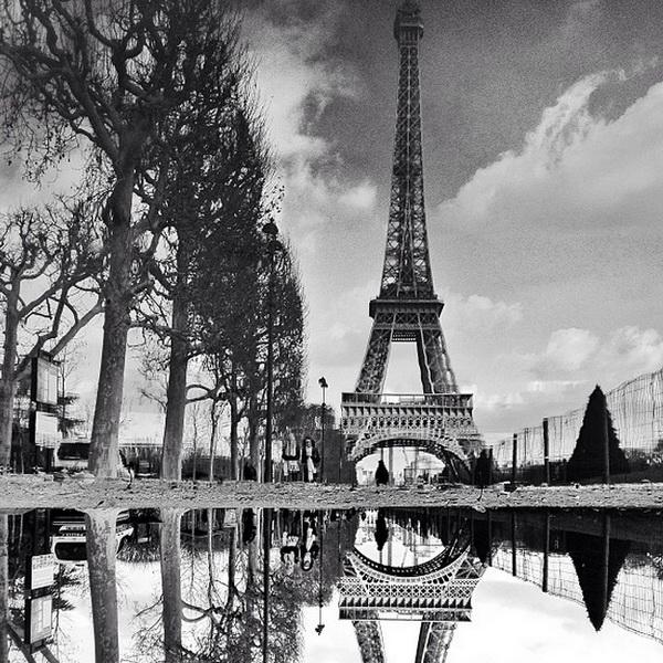 Париж, Эйфелева башня. Мобильная фотография Натали Жеффруа