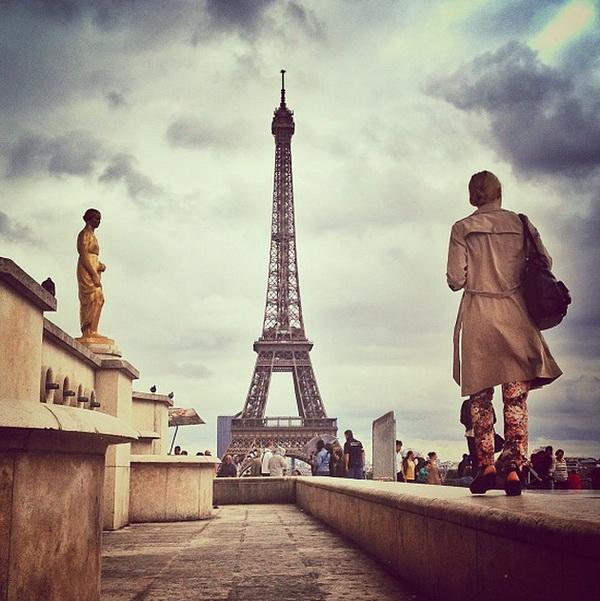 Эйфелева башня, Париж. Мобильная фотография Натали Жеффруа