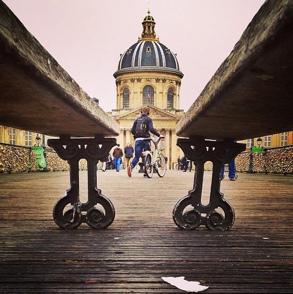 Мост искусств, Париж. Мобильная фотография Натали Жеффруа