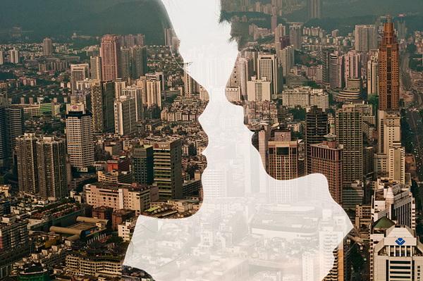 Двойная экспозиция. Фото из серии City Silhouettes, Джаспер Джеймс (Jasper James)