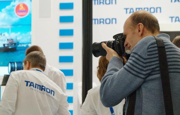 Стенд компании Tamron на Фотофоруме-2013