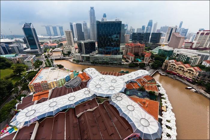 Набережные Boat Quay и Clarke Quay, Сингапур. Фото: Виталий Раскалов