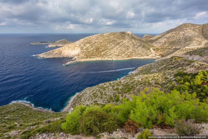 Закинф – туристический остров, шторм. Греция. Фото Вадима Махорова