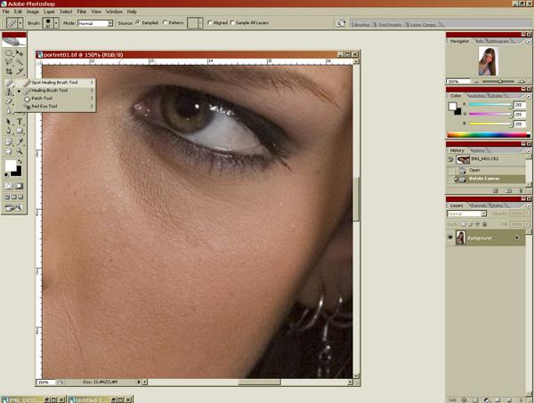 Урок Фотошопа: обработка портрета
